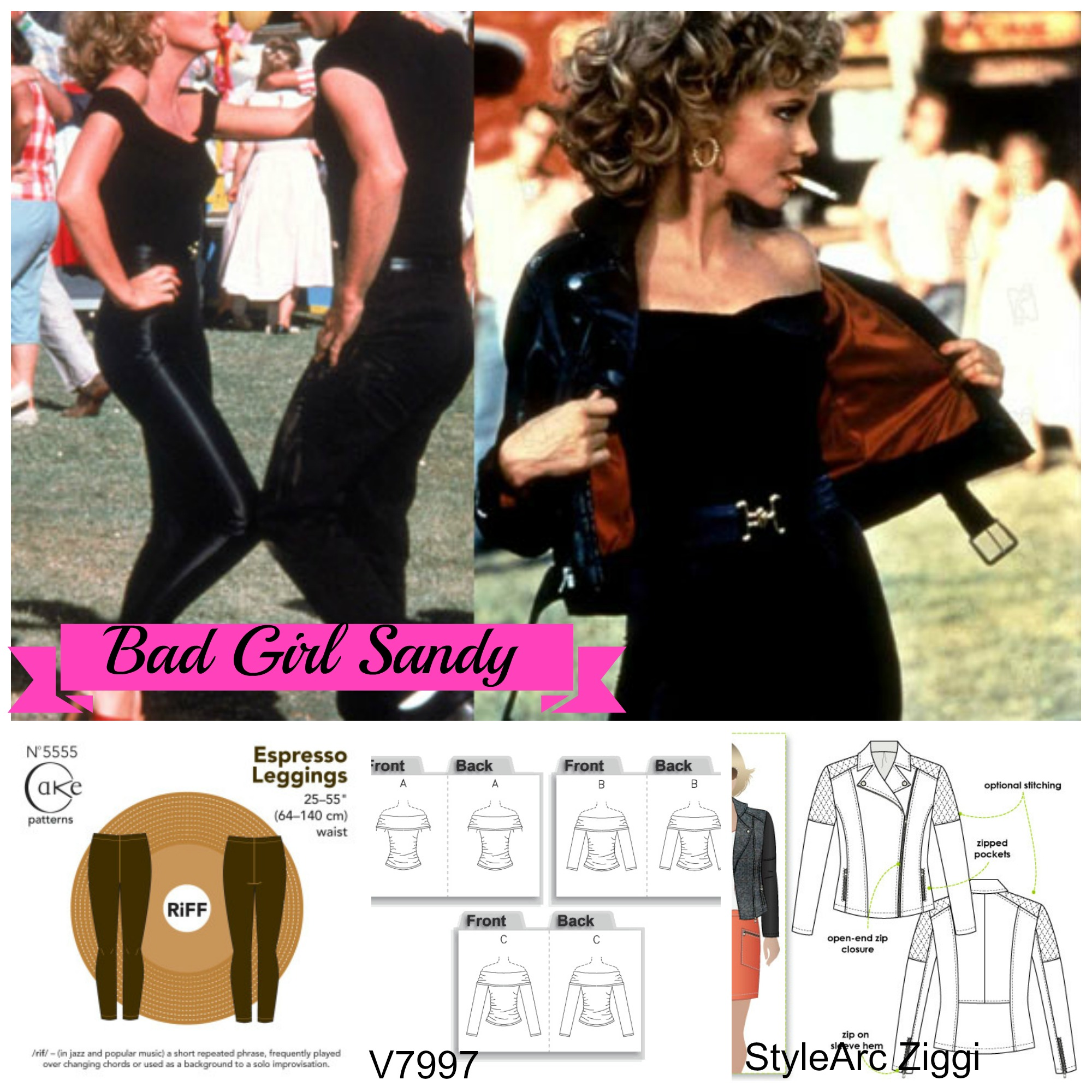 Grease is the word inspiration the bad girls sewcialists for Bad inspiration