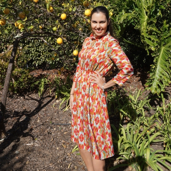 Bianca wearing Florence by Sew Over It