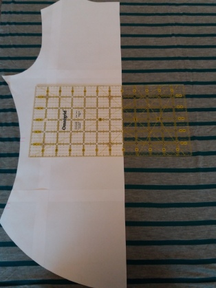 Aligning back pattern piece