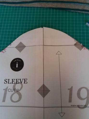 Marking sleeve pattern