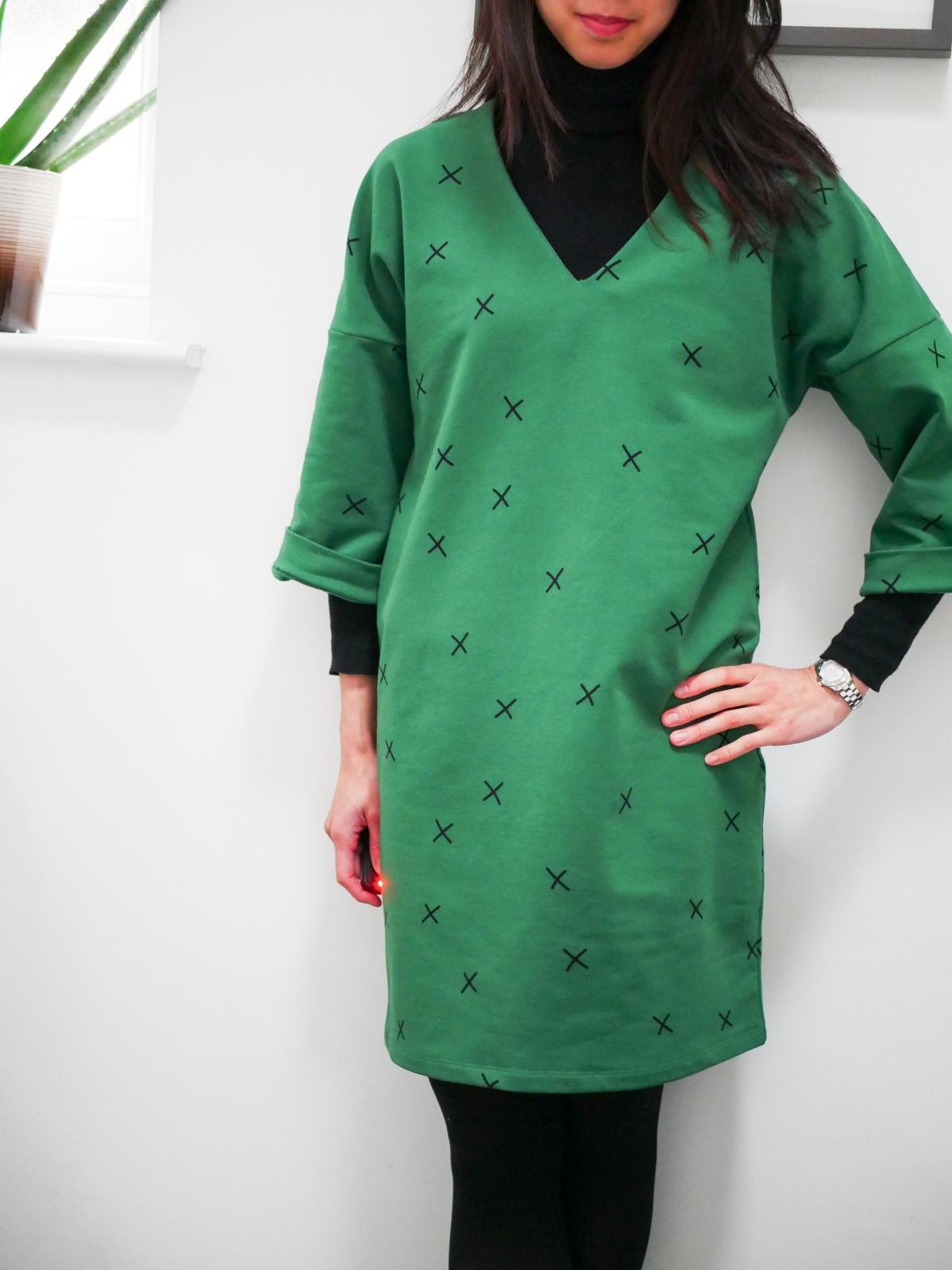Green sweater dress