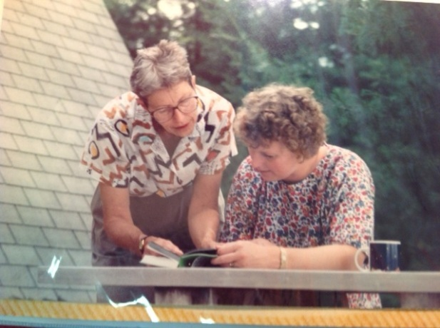Jeltje and Yvette in the 1980's