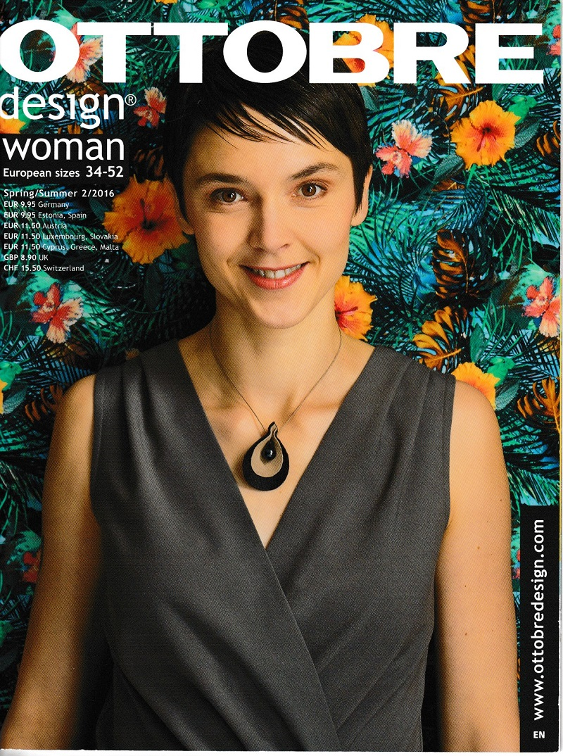 Ottobre magazine cover with the pattern I used for the Jeltje dress