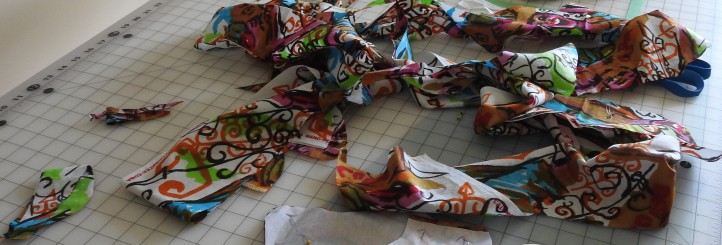 scraps remaining after cutting out my Jeltje dress