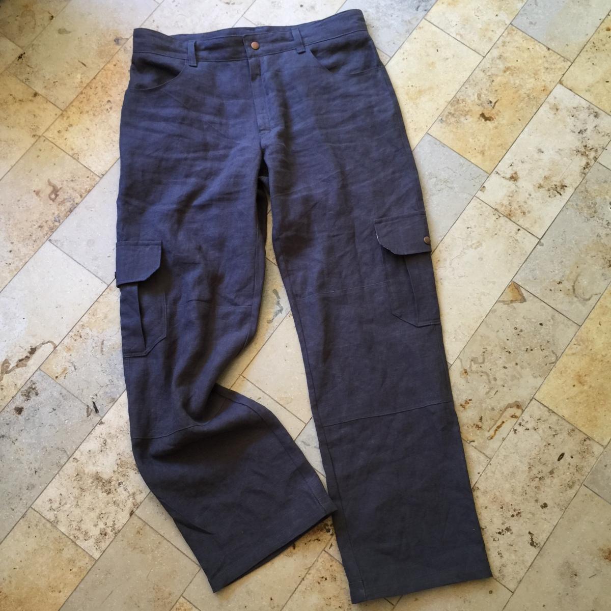 Flatlay of navy Jutland pants