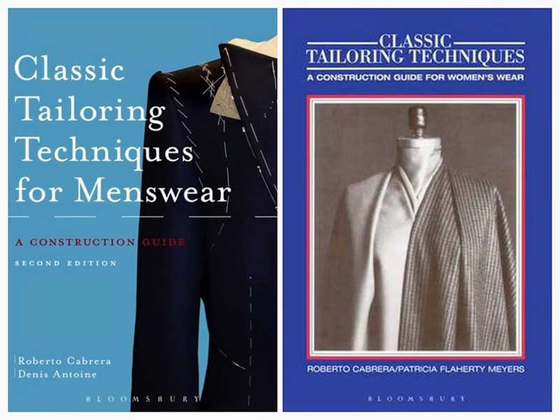 Cover of two tailoring techniques books by Roberto Cabrera